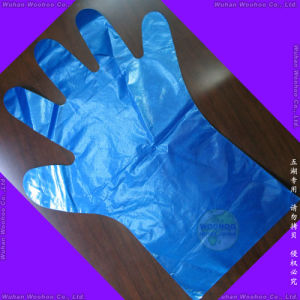 Disposable PE Examination Gloves pictures & photos