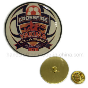 Football Lapel Pin Proceeding with Gradually Changing Color