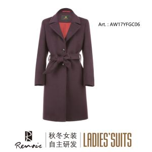 OEM Winter Woolen Joint Women′s Coat pictures & photos