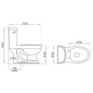 Sanitary Ware Cupc Bathroom Wc Pan Ceramic Toilet pictures & photos