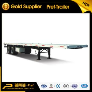 Two Axles 40 Feet Flatbed Container Shipping Truck Trailer