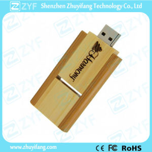 Custom Logo Rectangular Bamboo 8GB USB Pen Drive (ZYF1354) pictures & photos