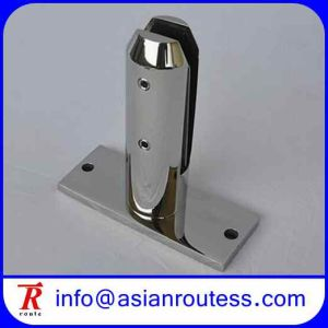 Round Base Plate Glass Pool Fencing Spigot