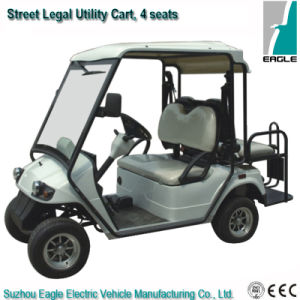 Street Legal Utilty Cart with Rear Flip Flop Seat pictures & photos