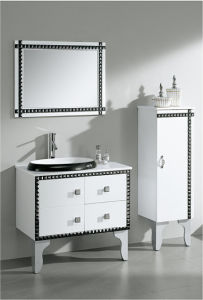 Glossy White Bathroom Cabinet with Mirror pictures & photos