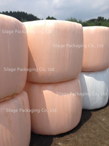 500mm*1800m*25um Blown Silage Wrap Film in Orange Color pictures & photos