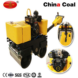 Walk Behind Double Steel Wheel Drum Hydraulic Vibratory Road Roller pictures & photos