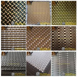 Architectural Metal Mesh Decorative Crimped Wire Mesh for Dining Hall, Isolation in Hotels, Ceiling Curtains or Screens pictures & photos
