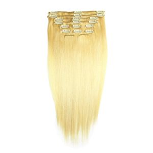 European Straight Human Remy Hair Clip in Extensions pictures & photos