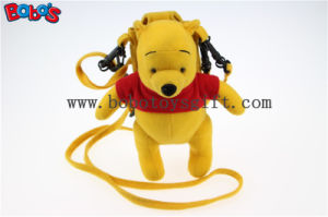 "7.3""Stuffed Winner The Pooh Bear Mobile Phone Bag with Red T -Shirt Bos1098 pictures & photos"