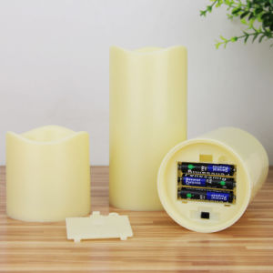 8-Key Battery Operated Flickery Plastic LED Candle pictures & photos