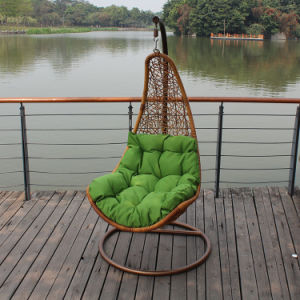 Rattan Shaped Swing Chair Wicker Hanging Single Seat Swing (D018) pictures & photos