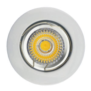 Die Cast Aluminum GU10 MR16 Round White Satin Nickel Fixed Recessed LED Lamp (LT1002) pictures & photos