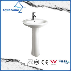 20′′-22′′ Bathroom Ceramic Pedestal Basin in White (ACB0014) pictures & photos