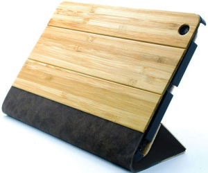 Whosale Luxury Bamboo Leather Cases for iPad pictures & photos