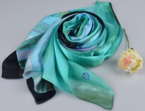 100%Silk Stripe Scarf Fashion Silk Square Scarf 150600100803 pictures & photos