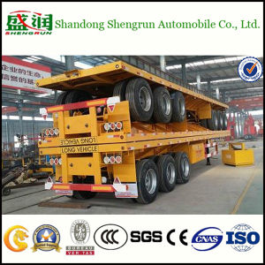 Truck Trailer Manufacturers Sell Flatbed Container Semi Trailer