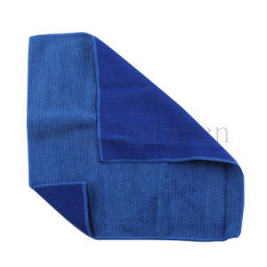 Double Blue Microfiber Cleaning Cloth (JL-176) pictures & photos