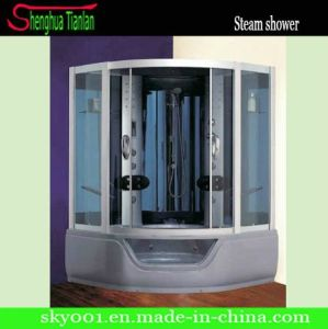 Blue Glass Whilpool Shower Bath Steam Sauna Cabin (TL-8830) pictures & photos