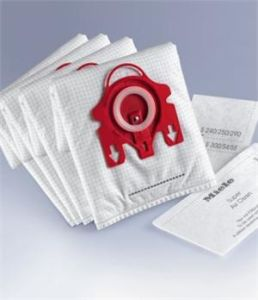Miele Micro-Lined Disposable HEPA Synthetic Dust Bags for Vacuum Cleaners with Exhaust Filter