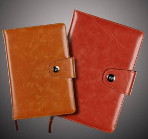 Addable Logo Genuine Leather Working Planners pictures & photos