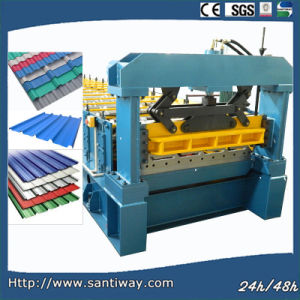 CE Certificated Corrugated Color Steel Cold Roll Forming Machine pictures & photos