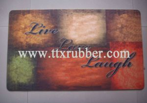 Custom Logo Sublimation Printing Floor Mat pictures & photos