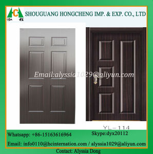 Modern HDF Moulded Door Skin with SGS Approved pictures & photos