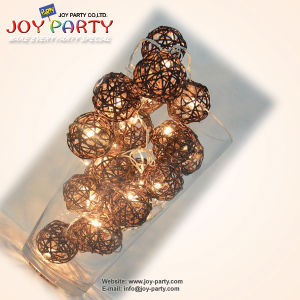 Brown 5cm Rattan Ball LED String Light 20 Tips (Joy2-9950) pictures & photos