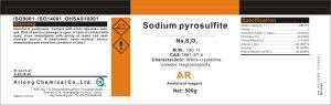 CAS No.: 7681-57-4 Sodium Pyrosulfite 96% Ar Grade pictures & photos