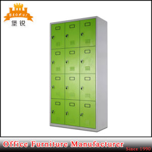 Top Quality Cheap Knock Down Structure Office School Steel Furniture Changing Room 12 Doors Metal Cabinets Lockers pictures & photos