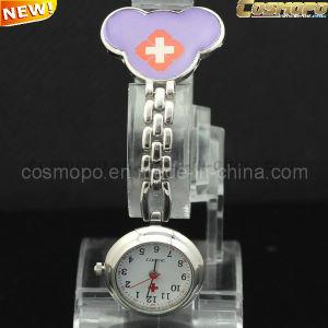 Purple Bear Nurse Watch with Chain (SA2029)