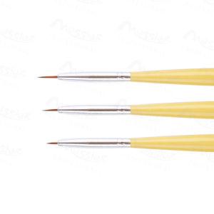 3 PCS Nail Art Tips UV Gel Acrylic DIY Painting Pen Brush Wood Handle Set Accessory pictures & photos