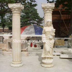 Surface Statue Beige Marble Stone Sculpture Column (SY-C020) pictures & photos