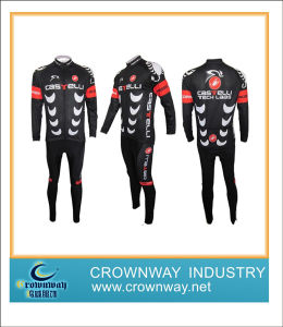 Men′s Sublimation Printing Coolmax Long Sleeve Cycling Jersey / Cycling Wear pictures & photos