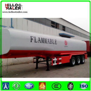 Tri Axle 36000 Liters Petrolem Tanker Semi Trailer for Tanzania pictures & photos