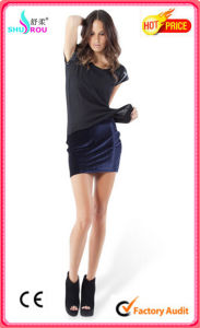 Fashion Sexy A-Line Short Skirt Office Dress for Women (SR-3012)