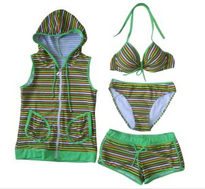 2017 Baby Girls Children Swimsuit 2 PCS Cute Baby Tankini pictures & photos