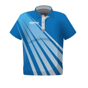 Custom Men Blue Golf Polo T Shirts with Good Design pictures & photos