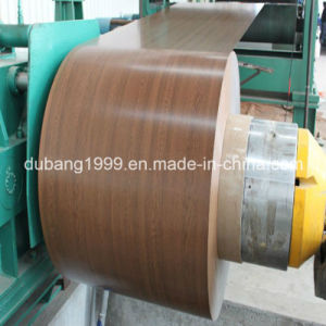 Factory Direct Sales Hot DIP Galvanized Steel with Wooden Pattern