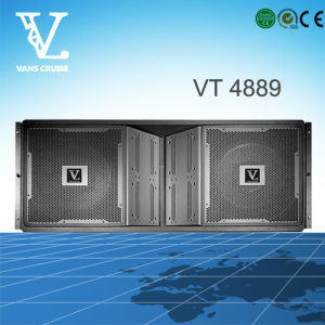 Vt4889 Double 15′′ 3-Way Line Array System with Neodymium Magnet