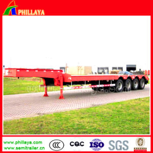 4 Axle 80-100ton Heavy Duty Lowboy Truck Low Bed Trailer pictures & photos