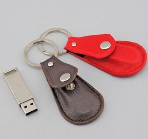Leather USB Flash Drive 1GB with Key Ring (TF-0251) pictures & photos