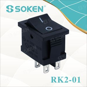 Soken Single Pole TUV VDE ENEC Rocker Switch T85 pictures & photos