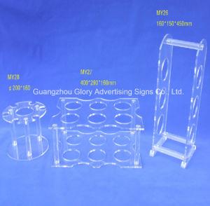 Transparent Plexiglass Cast Acrylic Holder for Comestics Display pictures & photos