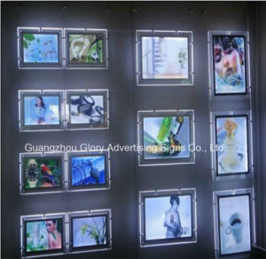 LED Backlit Acrylic Display Box /Hanging LED Ceiling Light Box pictures & photos