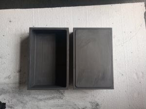 High Density Graphite Box for Melting Silver, Gold