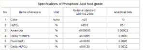 75% 85% Food Grade Phosphoric Acid pictures & photos