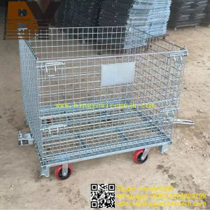 Wire Mesh Container Storage Box Roll Container pictures & photos