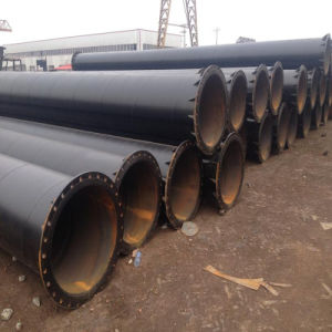 Surface Painted Spiral Steel Pipe with Flange Ends pictures & photos
